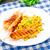 меда · куриные · гриль · кукурузы · Салат · пластина - Сток-фото © vankad