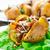 sült · krumpli · szalonna · gombák · finom · étel - stock fotó © vankad