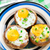 Stuffed mushrooms with eggs stock photo © vankad