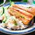 salmão · arroz · prato · tabela · jantar - foto stock © vankad