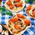 klein · pizza · olijven · spek · kaas · voedsel - stockfoto © vankad