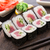 sushi rolls with tuna and cucumber stock photo © vankad