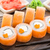 sushi rolls philadelphia with caviar stock photo © vankad