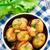 gekookt · aardappel · kom · tabel · glas · restaurant - stockfoto © vankad