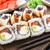 sushi roll with salmon tuna and eel stock photo © vankad