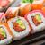 rainbow sushi roll with salmon tuna and eel stock photo © vankad