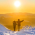 people walking at sunset in winter mountains stock photo © vapi