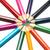 colorato · matite · Rainbow · fine · bianco · bambino - foto d'archivio © vapi