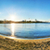 stadsgezicht · blauwe · hemel · wolken · zonnestraal · bomen - stockfoto © vapi
