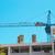 超高層ビル · クレーン · 建設 · 建物 · 曇った · 空 - ストックフォト © vapi