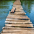 old wooden bridge through the river stock photo © vapi
