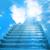 лестница · небо · изображение · белый · солнце · свет - Сток-фото © vapi
