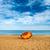 guarda-chuva · dourado · areia · praia · laranja - foto stock © vapi