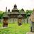 templom · öreg · ajtó · kilátás · minta · fából · készült - stock fotó © vapi