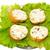 グルメ · ハンバーガー · 白 · チーズ · 新鮮な野菜 - ストックフォト © vapi