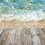 blue water with empty wooden platform stock photo © vapi