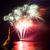 vuurwerk · silhouet · zoenen · paar · reusachtig · display - stockfoto © vapi