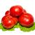 big red tomatoes with lettuce isolated on white stock photo © vapi
