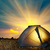 illuminated yellow camping tent stock photo © vapi
