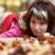 piękna · dziewcząt · portret · pozostawia · jesienią · parku - zdjęcia stock © vapi