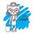 pequeno · gatinho · mão · cinza · olhos · azuis · criança - foto stock © vasilixa