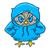 owl in blue hoodie  Line draw, hand-drawn contour on a white  stock photo © vasilixa