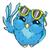 colorful owl in sunglasses line draw hand drawn contour stock photo © vasilixa