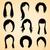 женщину · долго · вьющиеся · волосы · черно · белые · рук · моде - Сток-фото © vectomart