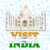 ziyaret · Hindistan · etiket · Tac · Mahal · mimari · mermer - stok fotoğraf © vectomart
