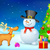 snowman and reindeer in christmas night stock photo © vectomart
