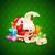 santa with christmas gift stock photo © vectomart
