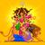 diosa · feliz · ilustración · diseno · fondo · poder - foto stock © vectomart