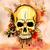 стиль · череп · печать · ретро · иллюстрация - Сток-фото © vectomart