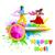 krishna · gry · ilustracja · kolory · kolor · tapety - zdjęcia stock © vectomart