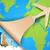 papír · repülőgép · térkép · illusztráció · háttér · művészet - stock fotó © vectomart