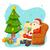 alegre · natal · papai · noel · leitura · desejo · lista - foto stock © vectomart
