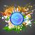 tekerlek · üç · renkli · örnek · soyut · Hint · bayrak - stok fotoğraf © vectomart