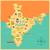 indiai · zászló · térkép · vektor · India · terv - stock fotó © vectomart