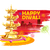 burning diya on happy diwali holiday watercolor background for light festival of india stock photo © vectomart