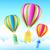 globo · de · aire · caliente · cielo · ilustración · ninos · naturaleza · diseno - foto stock © vectomart