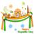 roda · Índia · ilustração · laranja · viajar · bandeira - foto stock © vectomart