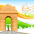 Индия · ворот · триколор · иллюстрация · аннотация · флаг - Сток-фото © vectomart