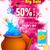 boldog · fesztivál · indiai · színek · terv · szalag - stock fotó © vectomart