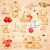 romantique · Nounours · fleur · derrière · Retour · arc - photo stock © vectomart