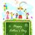 crianças · em · pé · balão · ilustração · feliz · escolas - foto stock © vectomart