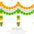 india tricolor flower decoration stock photo © vectomart