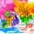 felice · illustrazione · abstract · colorato · tempio · messaggio - foto d'archivio © vectomart