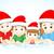 クリスマス · 家族 · 実例 · 3D · 幸せな家族 · ベクトル - ストックフォト © vectomart