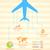 вектора · бумаги · карта · самолет · полет · морем - Сток-фото © vectomart