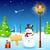 улыбаясь · снеговик · дома · ярко · красный · Hat - Сток-фото © vectomart